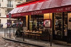 DSC_5861 (deborahb0cch1) Tags: paris snow red window bar café brasserie cold winter cosyinside colours coloursofwinter storm snowstorm street streetphoto colors parisjetaime iloveparis