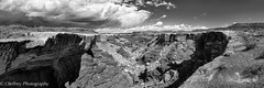 In the begining, just a trickle of water (OJeffrey Photography) Tags: monumentbasin canyonlands canyonlandsnationalpark pano panorama bw blackwhite blackandwhite stormclouds erosion ut utah ojeffreyphotography ojeffrey jeffowens nikon d850