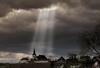 Light me up (Real_Aragorn) Tags: sonnenstrahlen wolken clouds sunbeam wipfeld schweinfurt kirche church