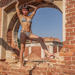 Stasya - sexy teen girl in nice abandoned place thumbnail
