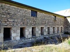 Tintinara. Eight of the original 16 shearing bays in the Tintinara sheep station wool shed built in 1865. (denisbin) Tags: tintinara sheepstation fireplace stove oven shearersquarters shearerskitchen shearingshed woolshed sheep