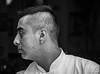 2018 - Mexico City - Restaurante Primos Condesa - 4 of 4 (Ted's photos - Returns Early June) Tags: 2018 cdmx cityofmexico cropped mexico mexicocity nikon nikond750 nikonfx tedmcgrath tedsphotos tedsphotosmexico vignetting bw blackwhite blackhair profile male man boy nose lips bokeh ear