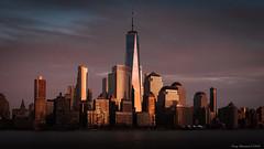 Manhattan at Sunset (CoreyBourassaPhoto) Tags: cityscape skyline sunset finepix fuji fujifilm newyork newyorkcity spring x100f