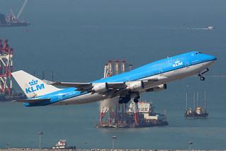 PH-BFI 747-400 KLM, Hong Kong