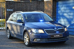 Unmarked Driver Training Vehicle (S11 AUN) Tags: dorset police skoda superb estate unmarked irv incident response vehicle panda car driver training driving school 999 emergency