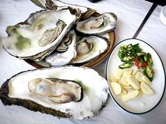 Oysters (MelindaChan ^..^) Tags: skorea food eat korean chanmelmel mel melinda melindachan hadong 河東 oyster travel spring