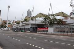 Mong Kok Stadium (Terry Hassan) Tags: hongkong 香港 mongkok 旺角 stadium 旺角大球場 road tarmac sign football