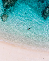 Kerama mermaid from above, Tokashiki Island, Okinawa, Japan (Ippei & Janine Naoi) Tags: beach japan aerial drone kerama island water sea tropical ocean clear girl swimming holiday vacation tokashiki japanese coastline march spring coral reef