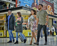 Steppin' Out (whosoever2) Tags: liverpool lime street station dress couple girl boy woman man uk gb unitedkingdom greatbritain
