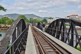 The infamous bridge over the River Kwai in Kanchanaburi, Thailand