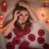 La beauté du diable (amateur72) Tags: fujifilm bain beauty candles fleurs flowers girl lait milk milkbath model modeles modèle pretty red shooting xt1