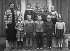 Class Photo (theirhistory) Tags: children boy kid school group form girl teacher jumper skirt trousers shoes wellies wellingtonboots