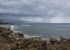 Pupukea Storm (fantommst) Tags: lisaridings fantommst pupukea beach oahu hawaii hi usa island northshore ocean headlands rocky mountains storm stormy rain showers surf seascape landscape pacific waimea honolulu coast
