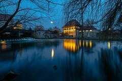 Schlossmühle, Steinfurt (Norbert Stening) Tags: langzeitbelichtung wasser nachtaufnahme burgsteinfurt steinfurt schloss