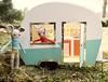 Camping! (Jay Bird Finnigan) Tags: rabbit pig bunny knitting miniature camper trailer caravan shasta retro camping