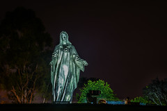 roman catholic parish of the diocese of san jose (pbo31) Tags: bayarea california southbay santaclaracounty nikon d810 color april spring 2018 boury pbo31 night dark black art santaclara religion stmary peace sculpture roman catholic parish diocese sanjose church
