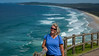 Jacque at Cape Byron with Tallow Beach in the background (Jacque & John) Tags: australia newsouthwales capebyron byronbay