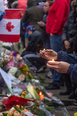 Vigil at Olive Square Park, Toronto April 24, 2018 (A Great Capture) Tags: olive square yonge street finch avenue people gather flowers candles mourn vigil park willowdale support canada strong diverse loving torontostrong loveforallhatredfornone toronto ontario agreatcapture agc wwwagreatcapturecom adjm ash2276 ashleylduffus ald mobilejay jamesmitchell on canadian photographer northamerica torontoexplore northyork