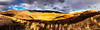 Painted Hills Panorama (Cameron Booth) Tags: goldenhour panorama unitedstatesofamerica johndayfossilbedsnationalmonument paintedhills landscape paintedhillsunit oregon johndayfossilbeds usa mitchell us