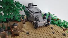 French Renault M1915 armoured car near Messines (michaelozzie1) Tags: renault m1915 armouredcar ww1 lego unitedbricks