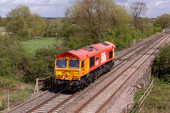 Class 66 - 66783 (66058) (The_Anorak) Tags: diesel locomotive british rail railways freight goods claymills staffordshire burtonupontrent england unitedkingdom uk greatbritain gb thursday 26th april 2018 66783 66058 gbrf gbrailfreight 0z91 duddeston doncasterdecoy light engine naming theflyingdustman class66 shed generalmotors gm electromotivediesel emd type5