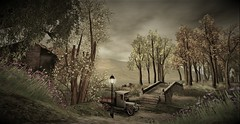 A Vintage Delivery (Jaeden Hades) Tags: secondlife picturesque vintage beauty countryside van story trees flowers outdoors scenic