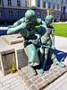 Blacksmith with boy (hhschueller) Tags: nrw samsungs8 germany deutschland duitsland düsseldorf duesseldorf sculpture art statue ドイツ デュッセルドルフ