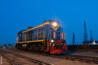 Locomotive TEM2-1238... railway station Dzamyin Uud.