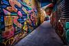 Patrones de Patronato. (Eugercios) Tags: santiago santiagodechile chile recoleta patronato arte art urbanview urban graffiti alley alleyway passage color letras grim america sudamerica southamerica iberoamerica latinoamerica hispanoamerica narrow misterio mistery cityscape ciudad city cidade urbanart