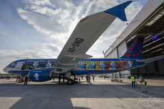 Brussels Airlines #SNSmurfs Event – Brussels Airport (BRU EBBR) – 2018 03 24 – 35 – Copyright © 2018 Ivan Coninx (Ivan Coninx Photography) Tags: ivanconinx ivanconinxphotography photography aviationphotography brusselsairport bru ebbr airbus airbusa320 airbusa320214 a320 a320214 brusselsairlines oosnd aviation aerosmurf snsmurfs