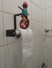What I saw in the toilet in a bike shop (Elisa1880) Tags: toiletrolhouder wcrolhouder toilet paper holder tissue winterswijk gelderland fietsenwinkel bike shop nederland netherlands wc