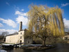 Weeping Willow and Mill (Feldore) Tags: bath mill canal weeping willow england english landscape feldore mchugh em1 olympus 1240mm peaceful architecture pump house ethereal orton tree water