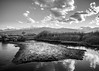 Owens Valley, California (dwblakey) Tags: california owensvalley landscape monochrome easternsierra water blackandwhite sky evening inyocounty owensriver bishop outdoors unitedstates us