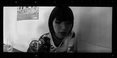 The Widelux and KFC (Shuji Moriwaki) Tags: widelux kfc fried chicken panorama cinematic diopter close focus mod nagasaki japan 35mm kodak tx400 400tx