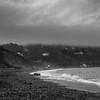 Black and White Killiney beach (andreyungurs) Tags: horizon over water beach coastline sea seascape ocean wave coastal feature surf seashore sand shore foggy seaside stones rain cold ireladn black white