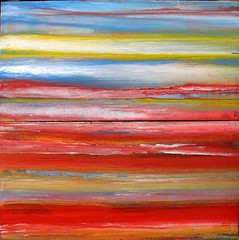 In the morning at the red lagoon (Peter Wachtmeister) Tags: artinformel art mysticart modernart popart artbrut phantasticart minimalart acrylicpaint abstract abstrakt surrealismus surrealism hanspeterwachtmeister