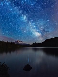 Milky Way over Lost Lake. ( Mt Hood NF, OR)