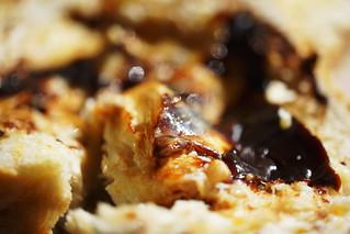 fresh crusty multi-grain bread with plenty of butter and vegemite