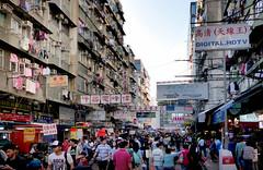 Busy Mong Kok. Hong Kong. (Bernard Spragg) Tags: street urban people crowds lumix asia china markets fz200 mongkok panasonic soe