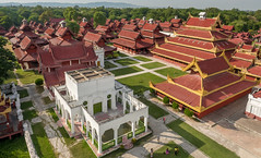 Myanansankyaw - Famed Royal Emerald Palace - Mandalay, Myanmar (Burma) (QuietRain31) Tags: mandalay mandalayregion royal palace famed emerald great golden moat 1800s burma burmese architecture complex buildings red grass asia southeastasia myanmarburma ngc natgeo lonelyplanet