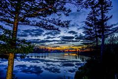 Quiet evening--DSC08429--Port Orford, OR (Lance & Cromwell back from a Road Trip) Tags: garrisonlakesunset portorford currycounty oregon oregoncoast sony sonyalpha garrisonlake sunset