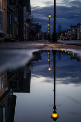 puddle lights (gillisdavid150) Tags: street reflection sonya6000 sonyalpha sony lights night mood canada maritimes