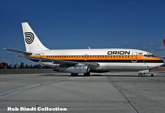 Orion Airways B737-2L9/Advanced G-GPAB (planepixbyrob) Tags: orion airways boeing 737 737200 ggpab lgw london gatwick hybrid monarch kodachrome