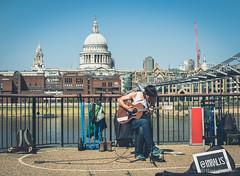 Rock on! (haris.krikelis) Tags: london londonlife londonstreets streetphotography rock guitar music stpaul southbank