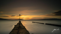 Old Jetty. Cultra, Northern Ireland. (jtatodd) Tags: 12neutraldensityveryhardgrad 2018 amateur belfast belfastlough countydown cultra current digital fullframe ilce7 ireland jetty lee leebigstopper leefilters leelandscapepolariser landscape may mirrorlesscamera nature neutraldensity northernireland ocean photography sel1635z sea sign sony sony1635mmf4variotessartfezaoss sonya7 spring sunset water wideangle zeiss unitedkingdom gb