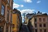 Södermalm (P. Burtu) Tags: stockholm sweden sverige vår spring architecture arkitektur house hus clouds moln sky himmel blå blue tree träd street väg