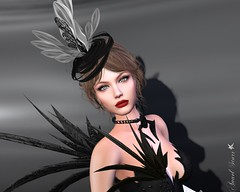 Miss Virtual Diva 2018 Challenge: Black & White (Entry Submission) II (Anaelah ~ Model, Blogger, Photographer) Tags: blog blogger beauty blogs secondlife sl style shopping jewels jewelry fashion femalewear news virtual virtualfashion avatar pretty beautiful glamour glamorous outdoor anaelstarr swank photoshop angels creative butterfly flowers flower shadows contrast photography fantasy sexy anael anaelah starr