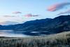 Dusk falls (Jessie T*) Tags: kamloopslake tobianobc dusk landscape lake grass hills sky pinkclouds