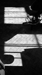 Untitled. (TaylorStellaPhotography) Tags: shadows artstudio photography blackandwhitephotography black white blackandwhite chair lightanddark highcontrast