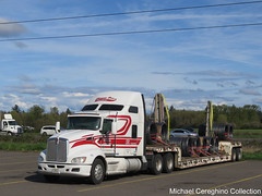 Sherman Bros Kenworth T660, Truck# 975 (Michael Cereghino (Avsfan118)) Tags: sherman bros kenworth kw t660 t 600 sleeper steel slinkys slinky load lowboy